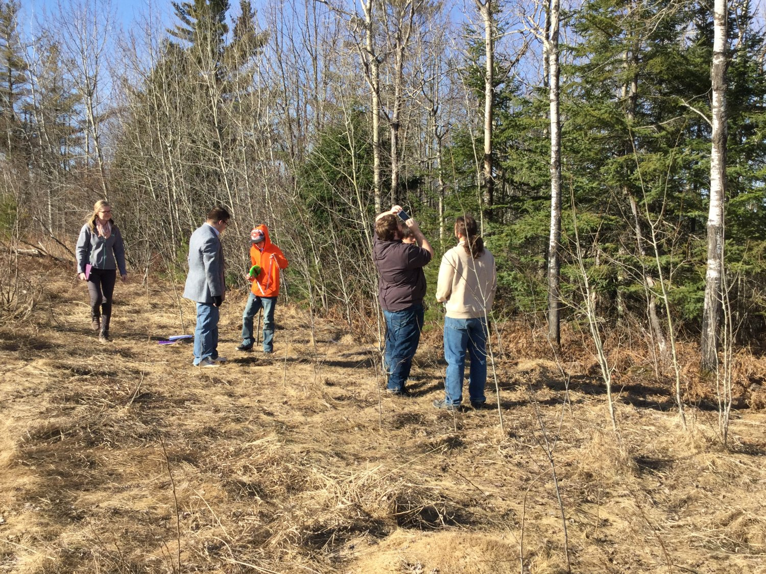 using inclinometers to measure tree heights